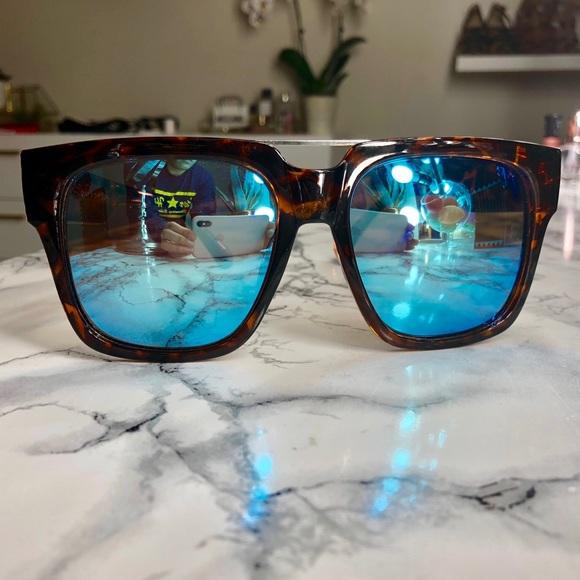 dca3a0c5fe QUAY X Chrisspy Mila Blue Square Tortoise Sunnies.  M 5a72ba64077b97e07fc13234. Other Accessories you may like. QUAY women s  sunglasses